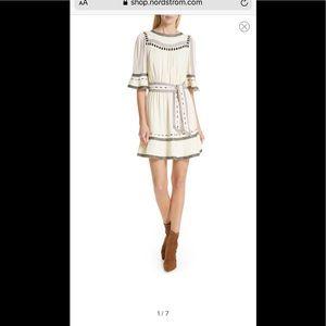NWT BA&SH The Plaza Embroidered Ruffle Dress S